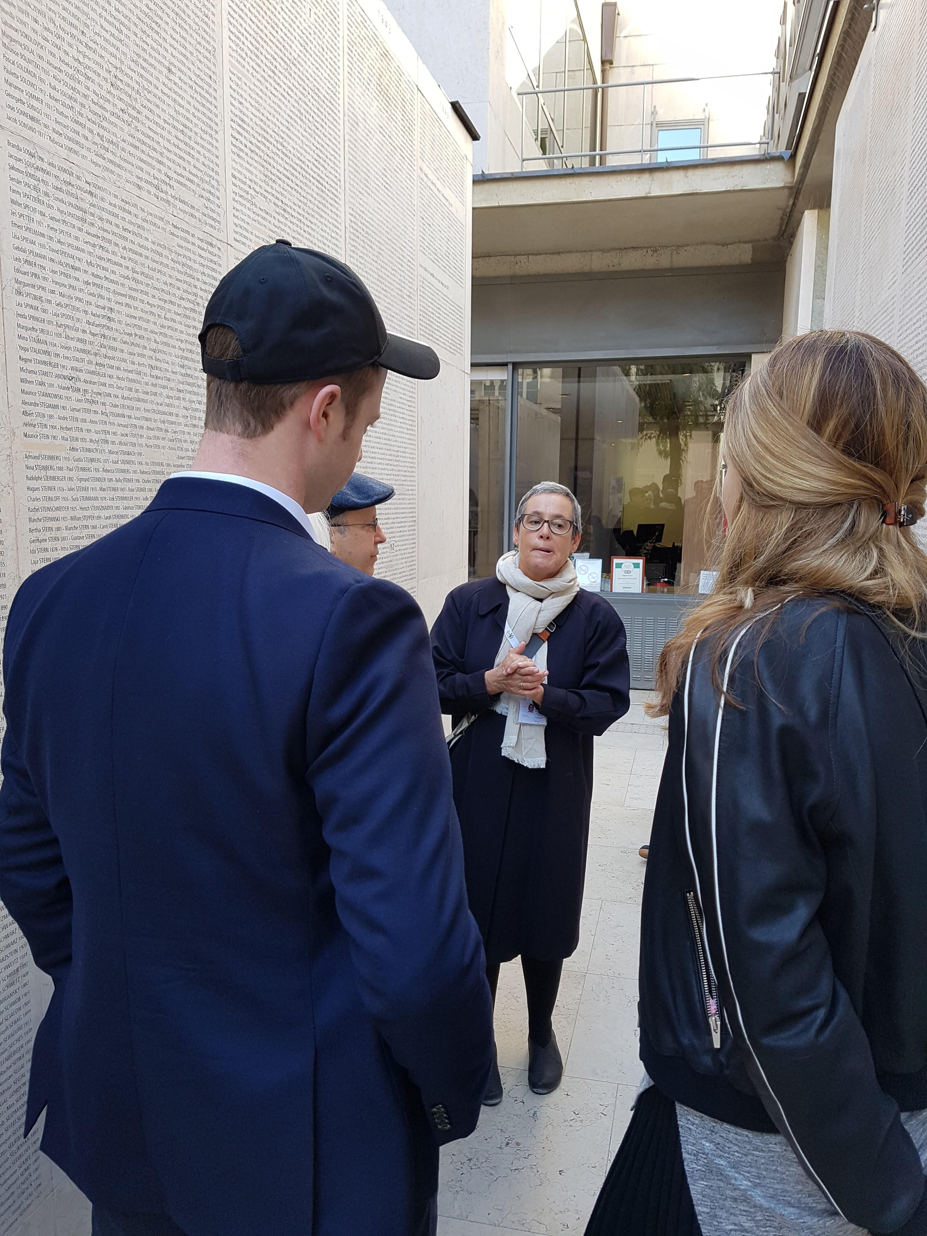 Léontine Cohen - during a Jewish Tour in Paris