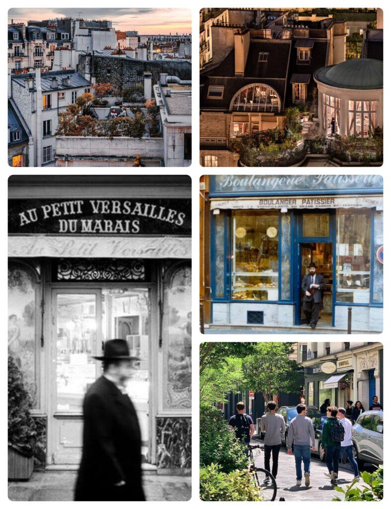 Collage Jewish Paris le Marais by Flora Goldenberg Jewish Tour Guide in PAris