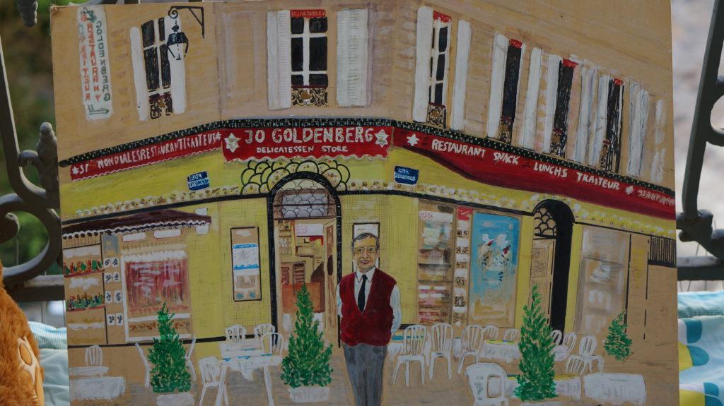 Jewish Quarter Paris Goldenberg Restaurant Painting