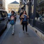 Livia & Flora Goldenberg - Both Jewish Tour guide in Paris - Training day in the Latin Quarter