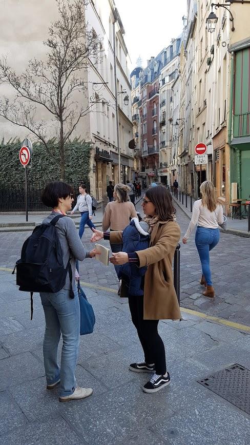Flora Goldenberg and Livia Tour guides in Paris