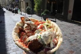 Falafel place in Jewish Quarter Paris